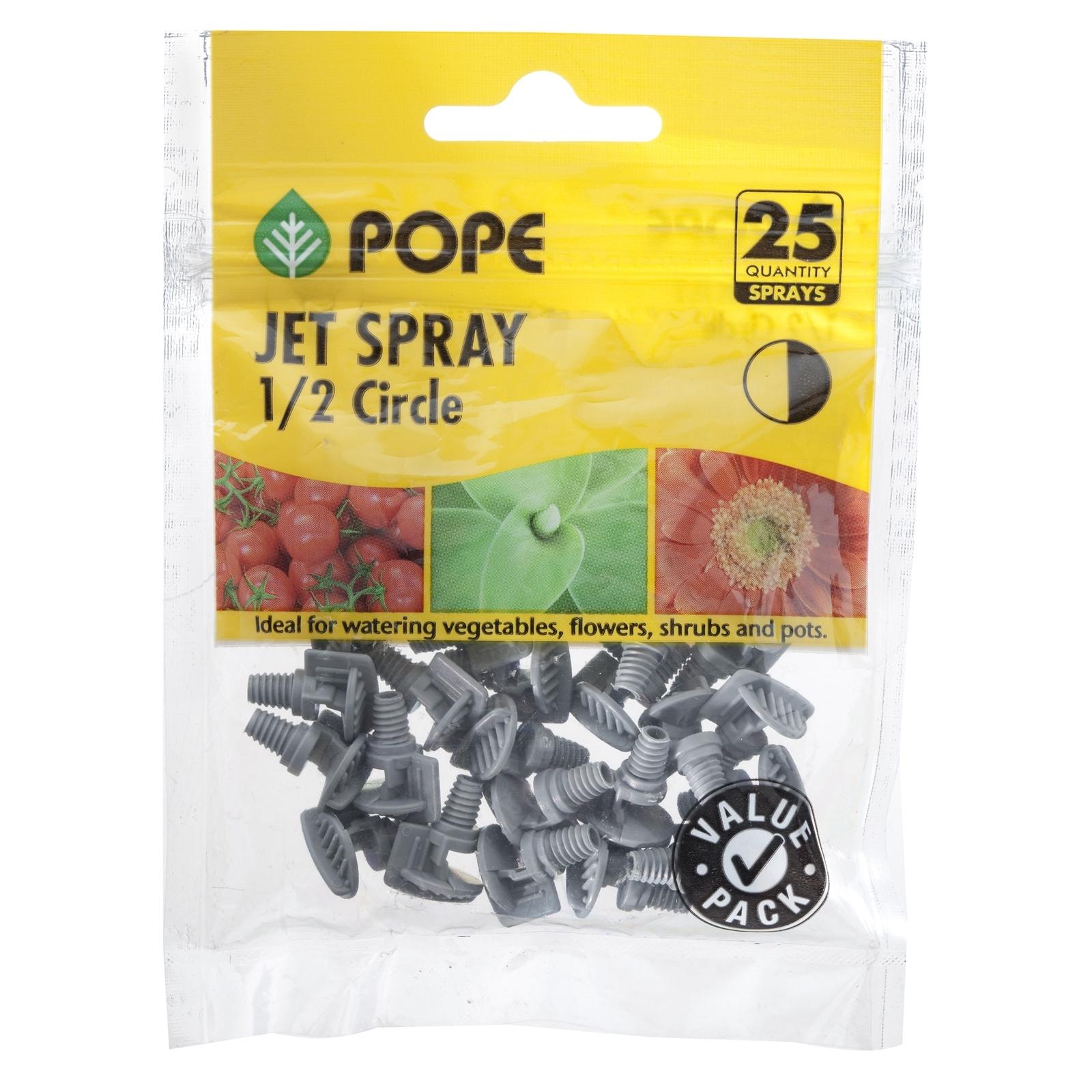 Pope 1 / 2 Circle Poly Micro Jetspray - 25 Pack