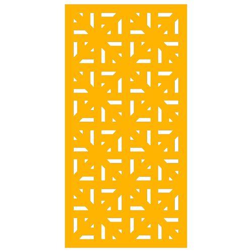 900 x 1200mm ACP Profile 29 Decorative Unframed Panel - Dark Yellow