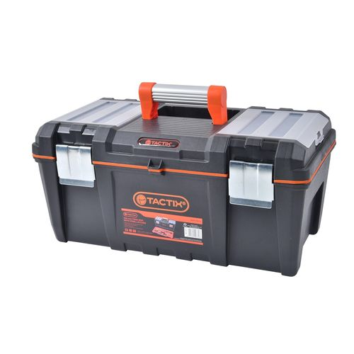 Tactix 535mm Tool Box With Aluminium Handle And Steel Latches