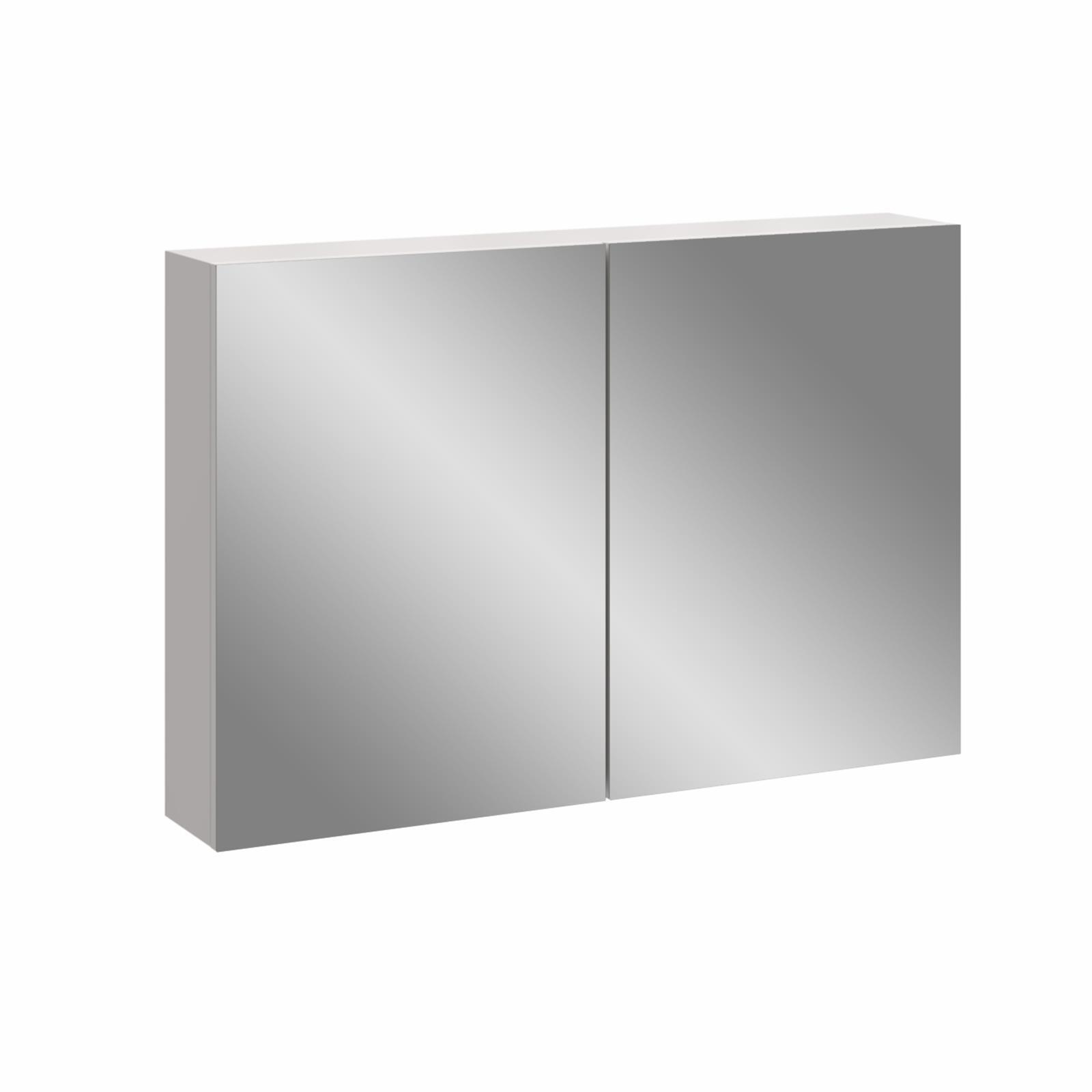 Stein 900 x 600mm White Stylo Bathroom Cabinet With Mirror Doors