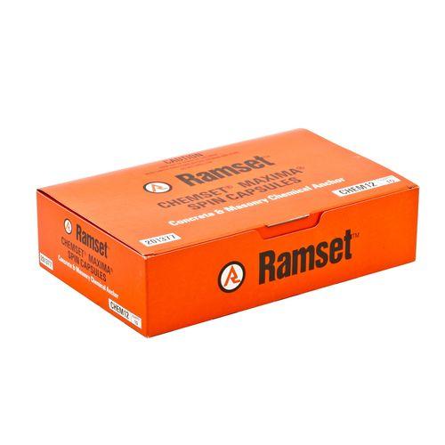 Ramset M12 Maxima Masonry Chemical Acrylate Epoxy Capsule - 10 Pack