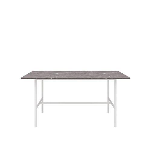 Gemma Rectangular Marble Effect Dining Table 160cm White Bunnings Australia