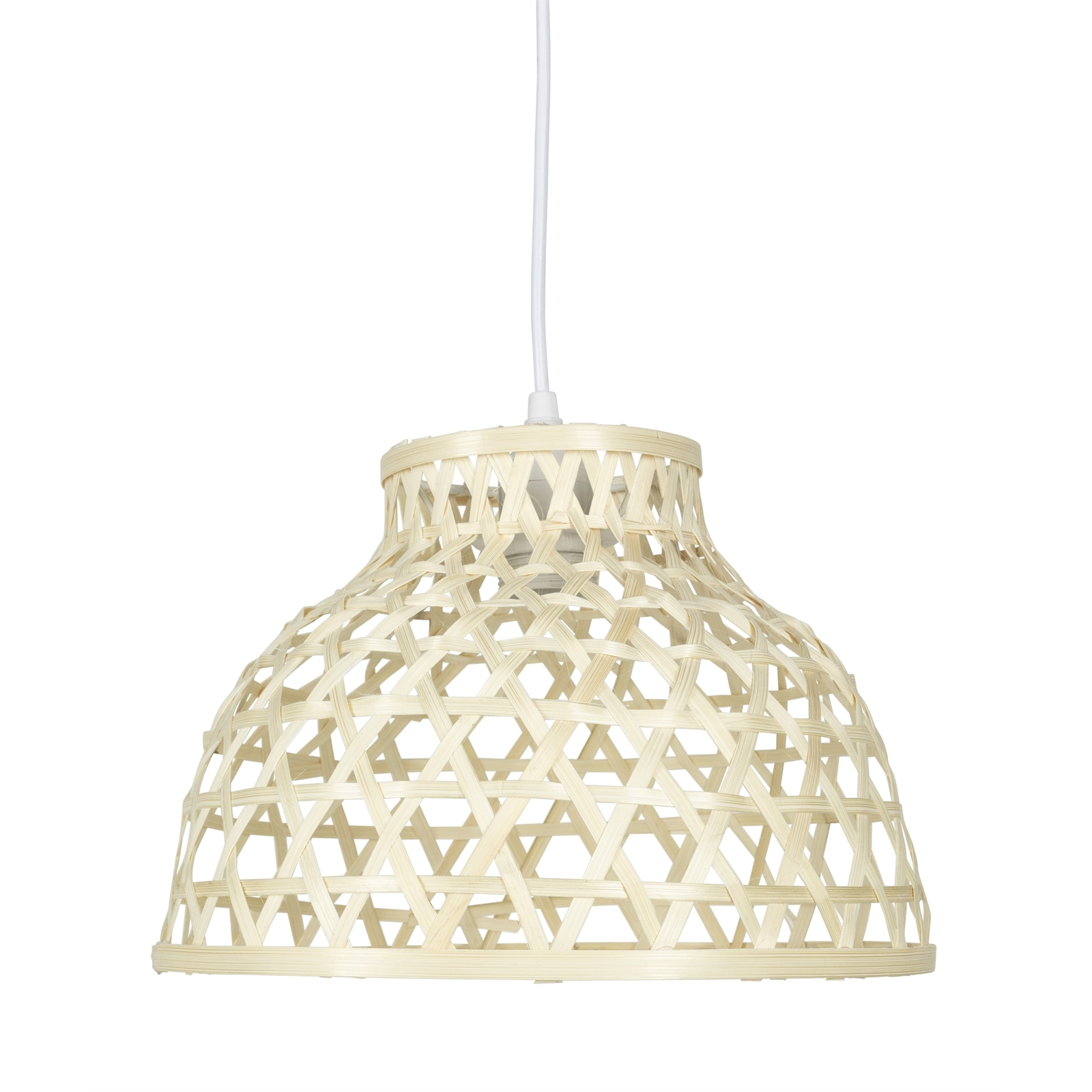 Brilliant 30cm Bamboo Moana Plug-In Natural Pendant DIY Light