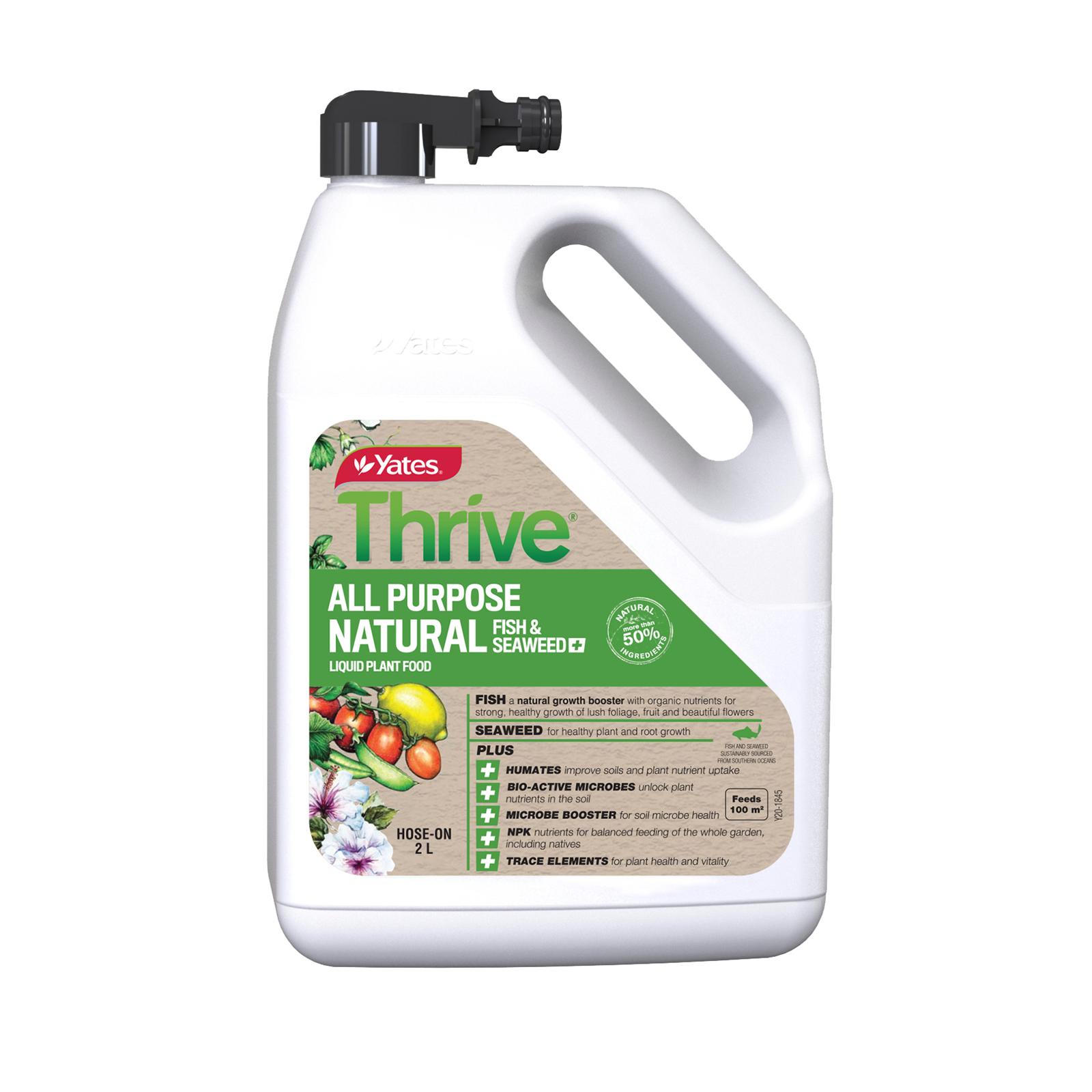Yates 2L Thrive Natural All Purpose Hose On Liquid Plant Food