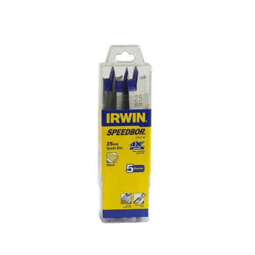 Irwin  25mm Blue-Groove Spade Bit - 5 Pack