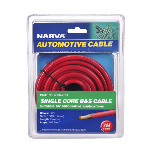 Narva 140A 7m Red Battery And Starter Cable