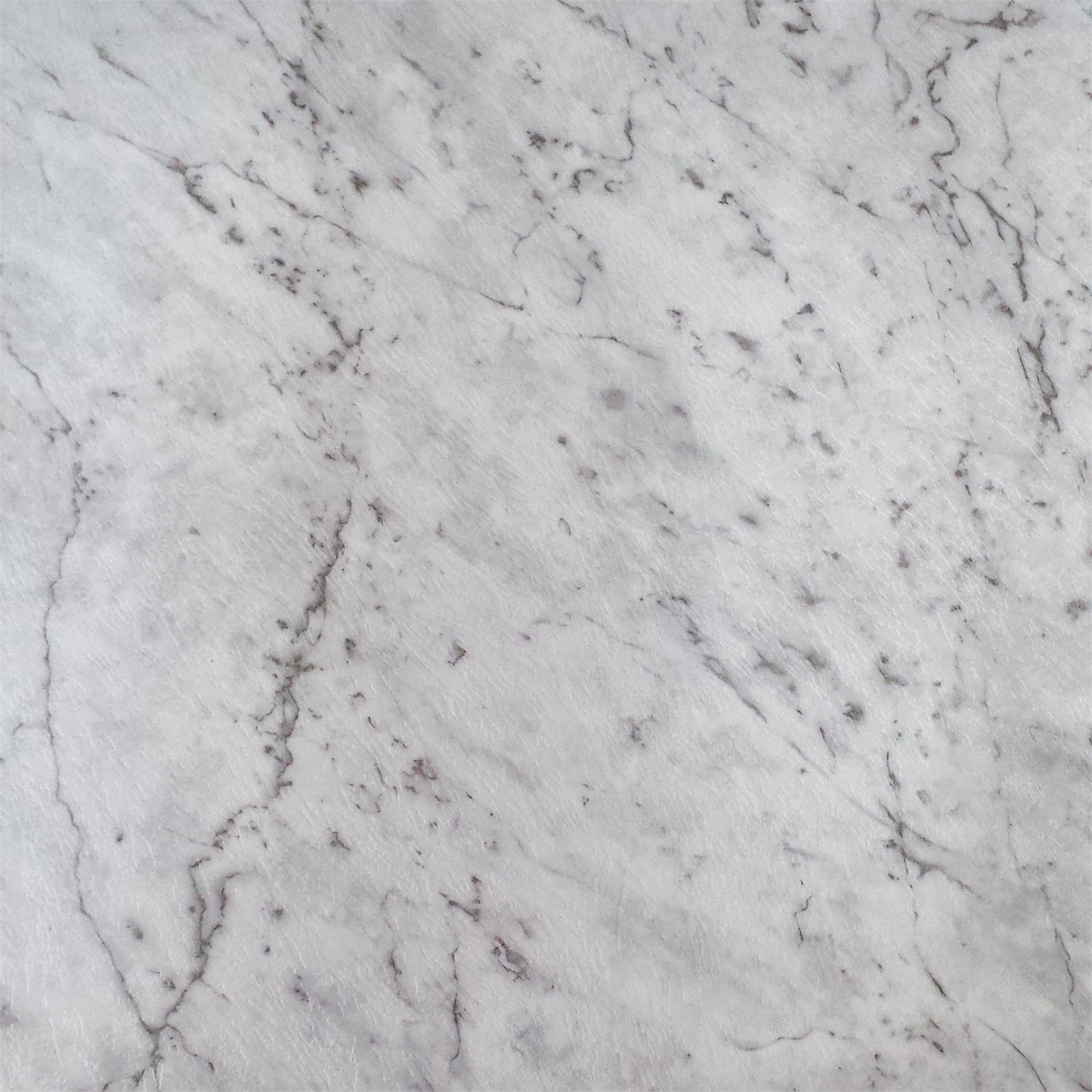 Winton Ideal Series 457 x 457mm White Marble Self Stick Vinyl Tile - 16 Pack