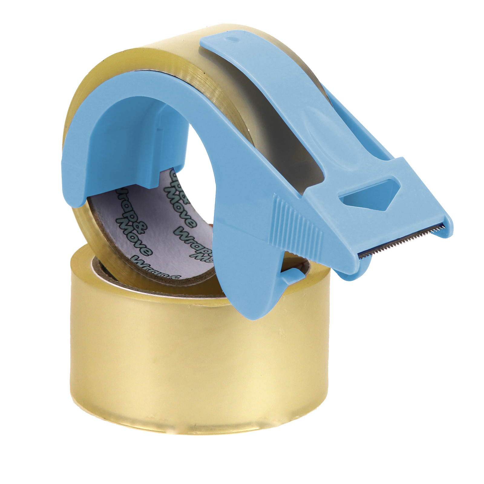 Wrap & Move Handheld Tape Dispenser With 2 Tape Rolls