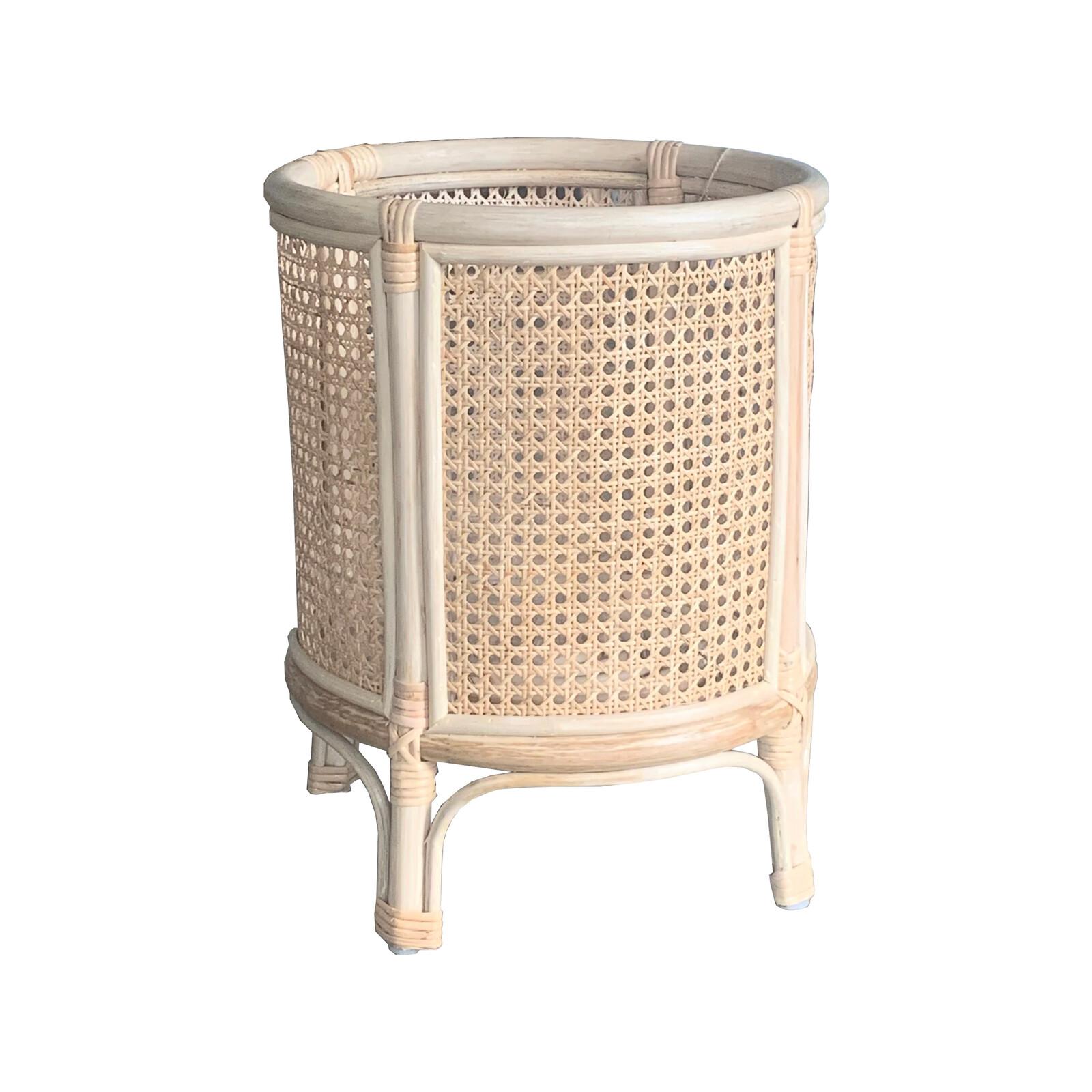 Home Bazar Basket 36x47cm Rattan Round Malibu