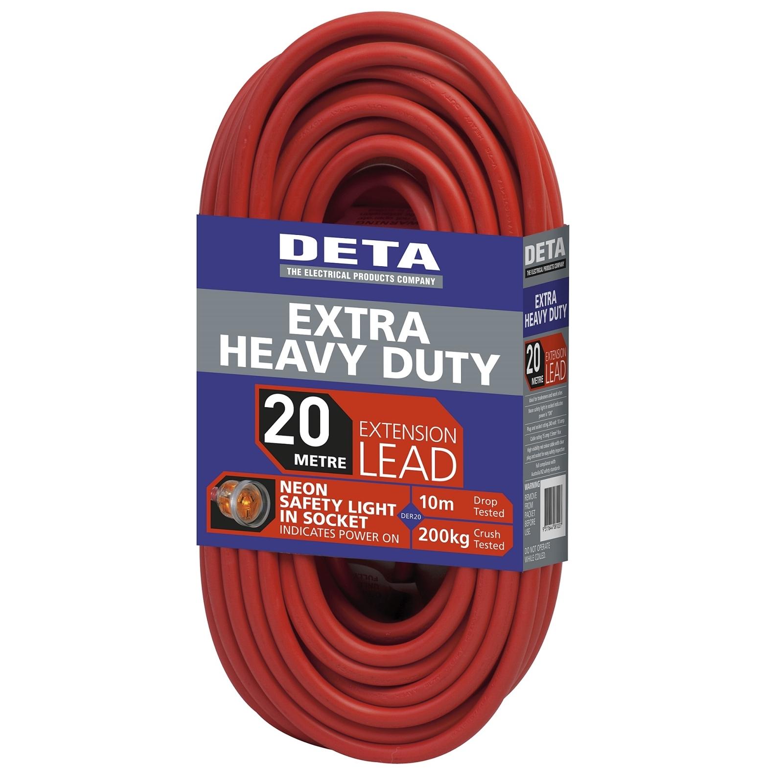 Deta 20m Extra Heavy Duty Extension Lead