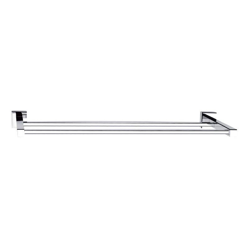 Rococo 600mm Chrome Double Towel Rail