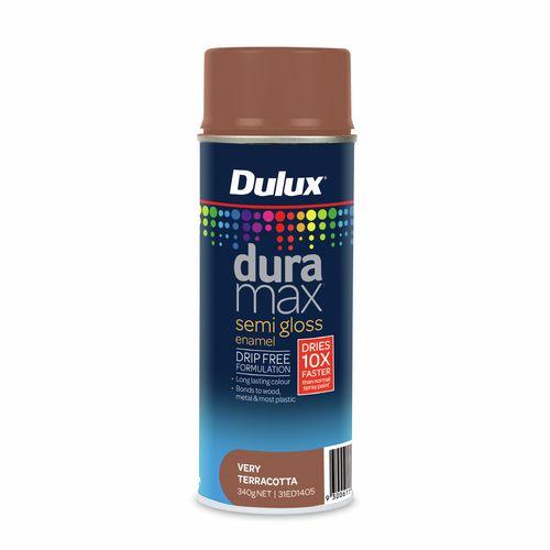 Dulux 340g Duramax Semi Gloss Very Terracotta Spray Paint