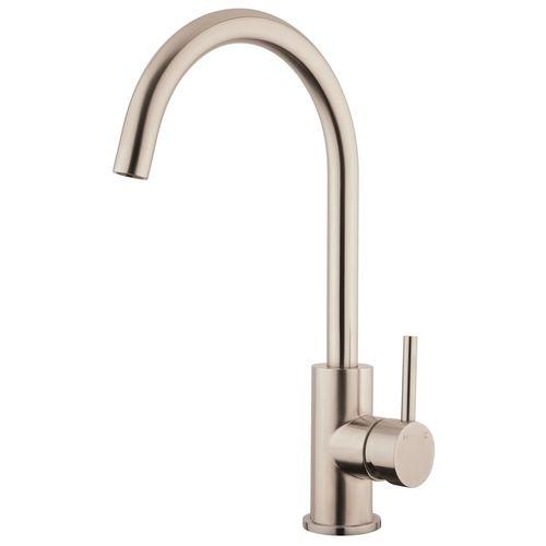 Foreno Stainless Steel E-Steel Minimal Gooseneck Sink Mixer