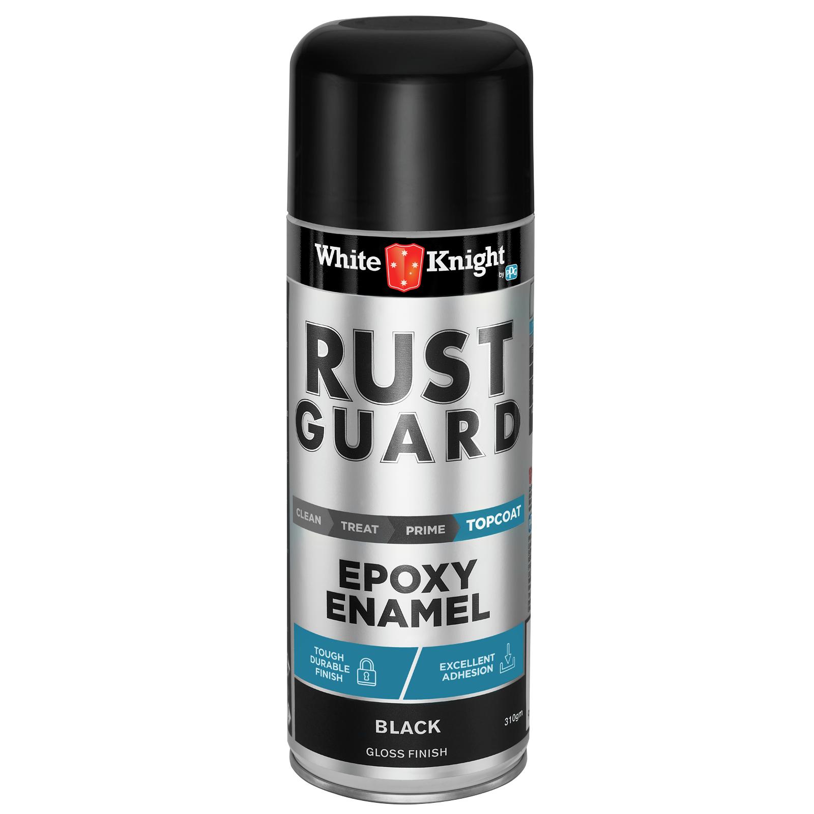White Knight 310g Black Gloss Rust Guard Epoxy Enamel