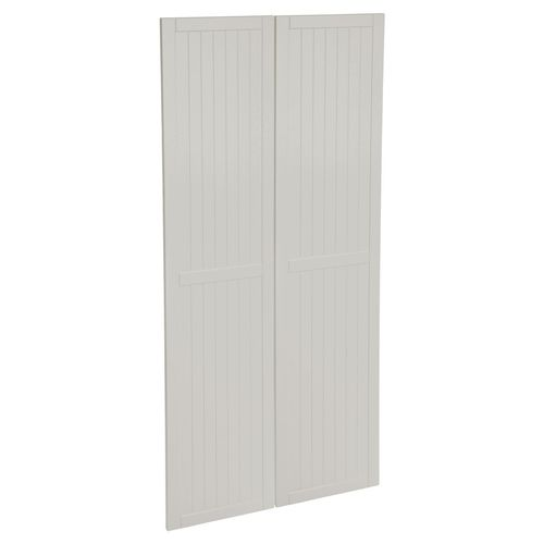Kaboodle 900mm Cremasala Country Pantry Doors - 2 Pack