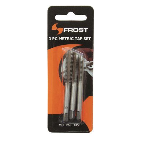 Frost 3 Piece M5/M6/M8 Metric Tap Set
