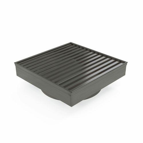 Forme 110 × 110mm Brushed Gun Metal Grey PVD Stainless Steel Mesh Floor Waste