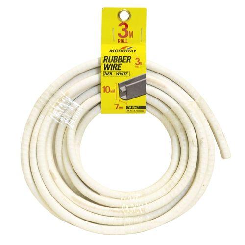 Moroday 7 x 10mm x 3m White U Channel Rubber Wire