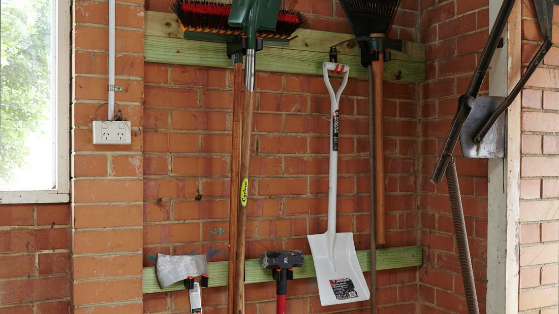 DIY Step Image - How to store garden tools . Blob storage upload.