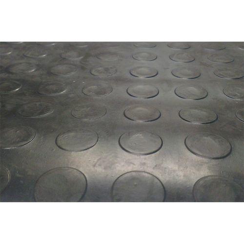 Ideal 1m Black Round Stud Rubber Matting Sheet