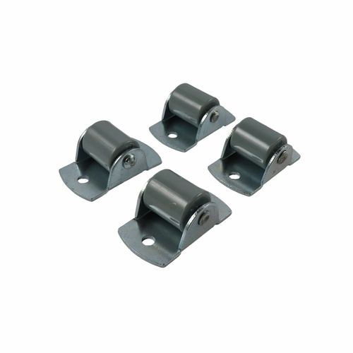 Move It 16mm 20kg Black Fixed Plate Castor - 4 Pack