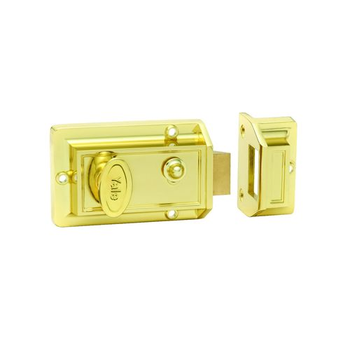 Yale Gold Single Cylinder Night Latch