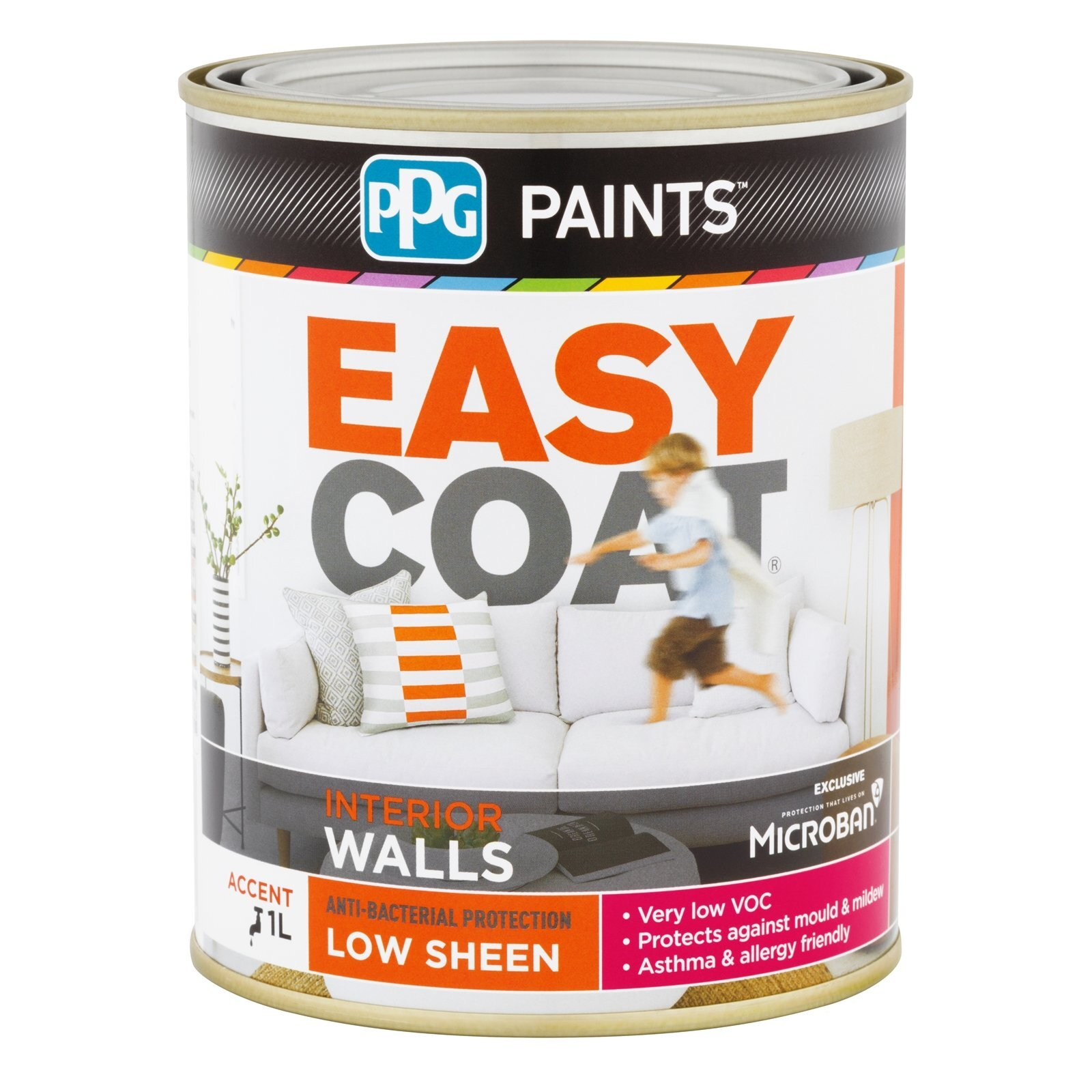 PPG Paints 1L Accent Low Sheen Easycoat Interior Wall Paint
