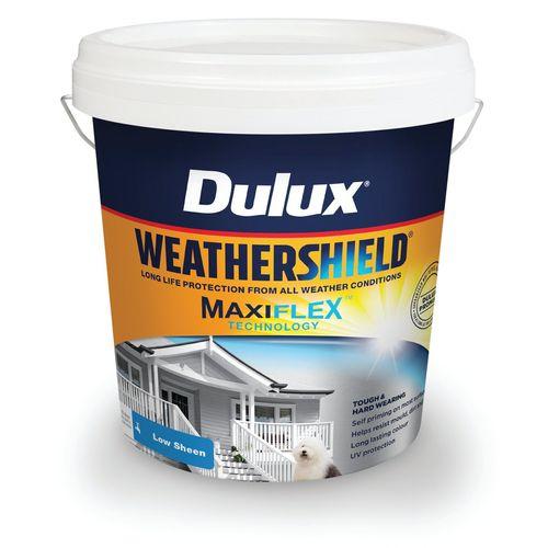 Dulux Weathershield 10L Vivid White Low Sheen Exterior Paint