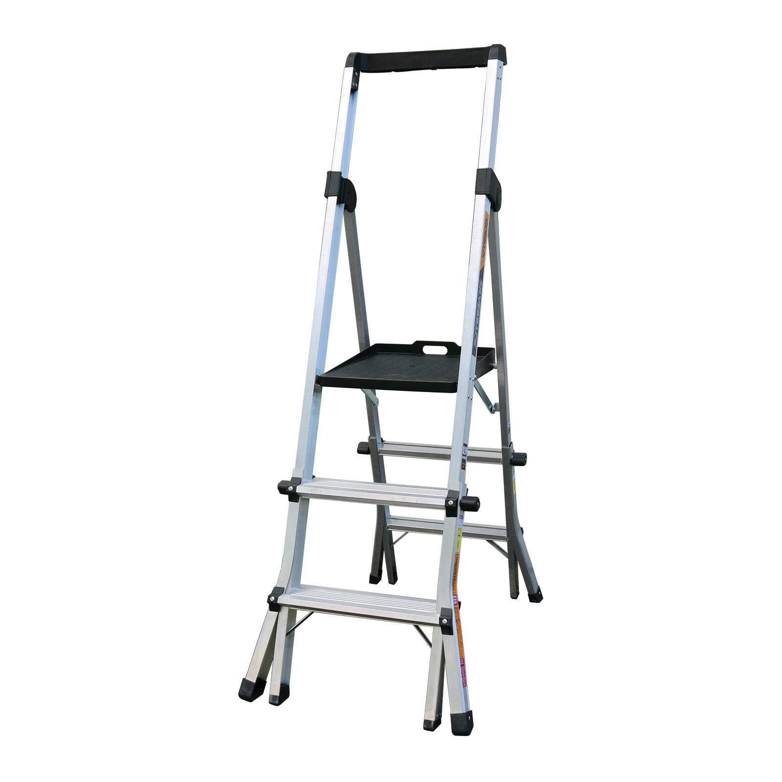 Gorilla 150kg Silverback 3-4 Step Adjustable Platform Ladder