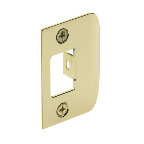 Gainsborough Polished Brass D Strike Plate - To Suit 480 Series