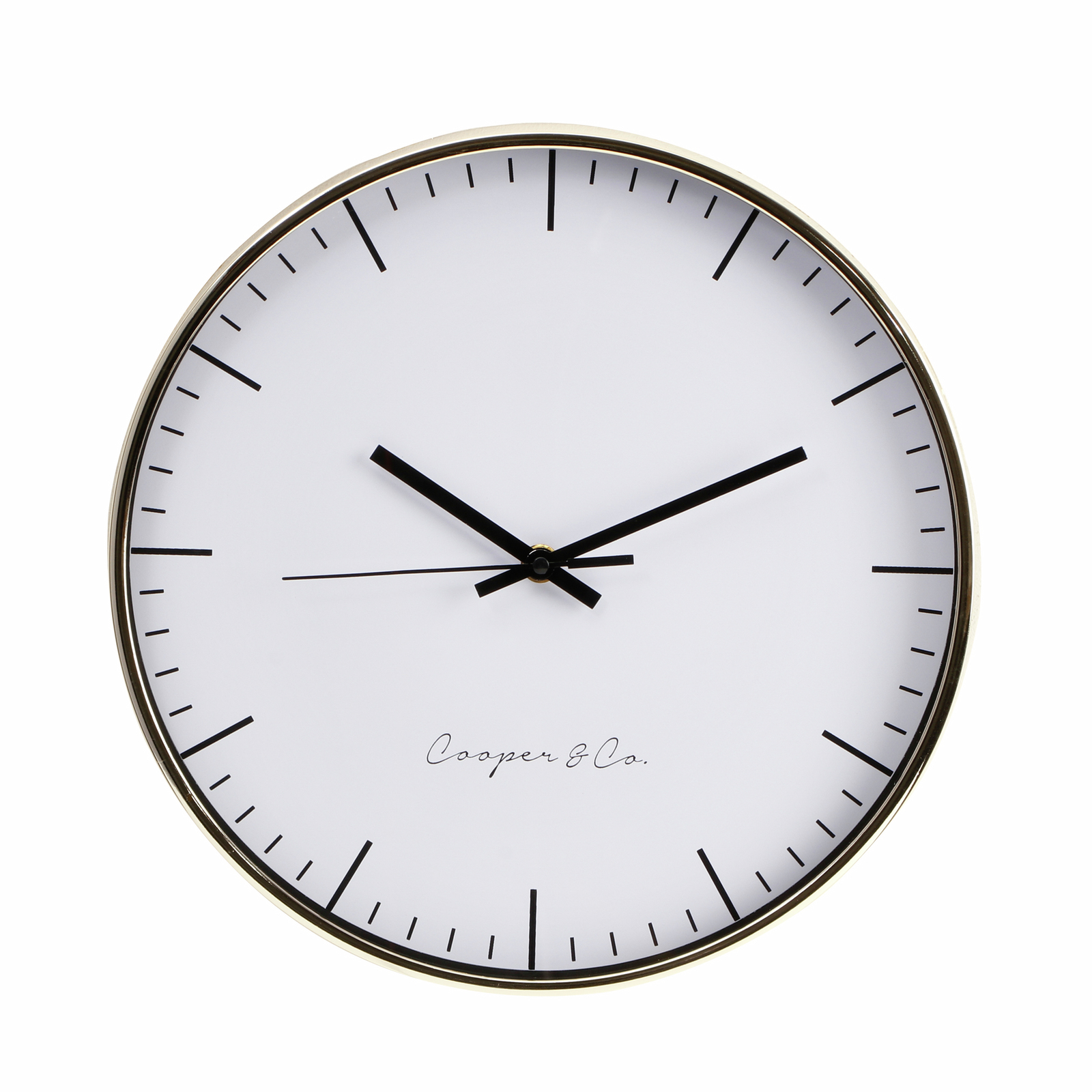 Cooper & Co. 30cm Gold Nelson Silent Movement Round Wall Clock