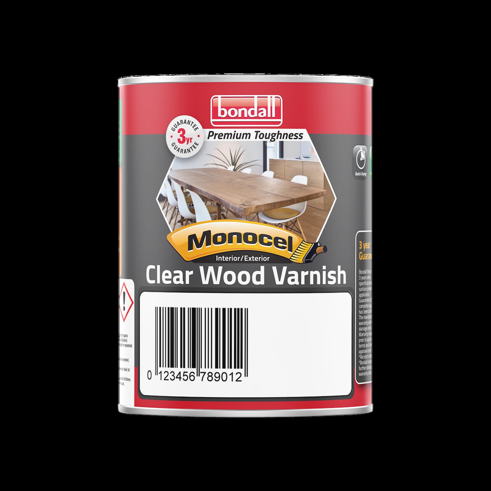 Bondall 250ml Ultra Gloss Monocel Clear Timber Varnish