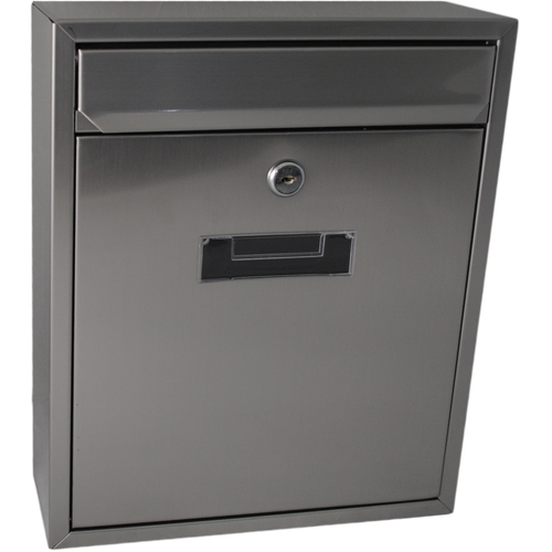 Sandleford Letterbox Wall Mounted Napoli Stainless Steel