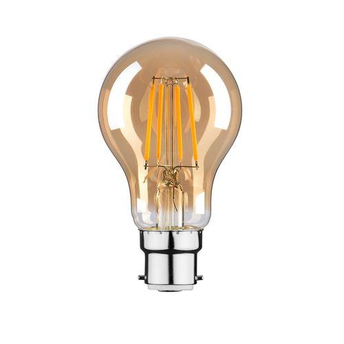 Luce Bella 4W 470lm Warm White Amber A60 LED BC Globe