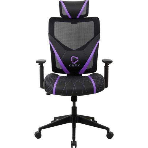 ONEX GE300 Breathable Ergonomic Gaming Chair - Black/Violet