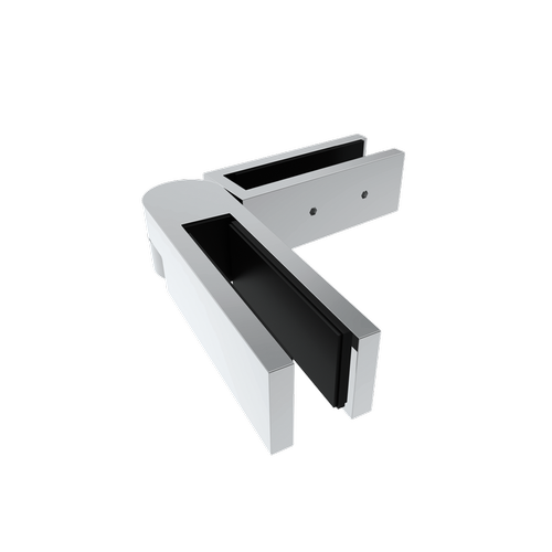Architects Choice 16 x 25 x 178mm Stainless Steel Glass To Glass Friction Fit Swivel Clamp