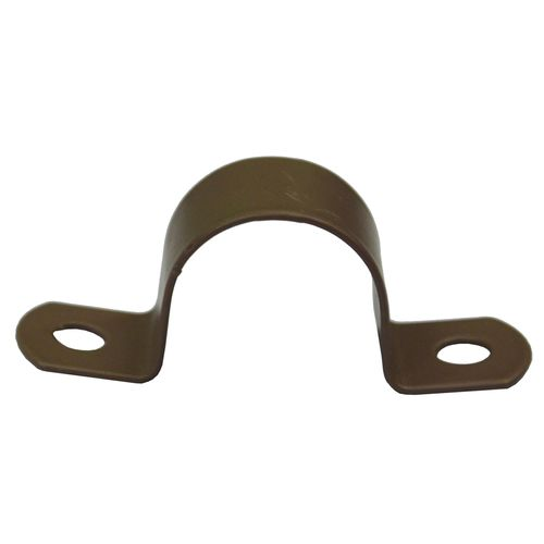 Kinetic 20mm Nylon Coated Copper Pipe Saddle Clips - 10 Pack