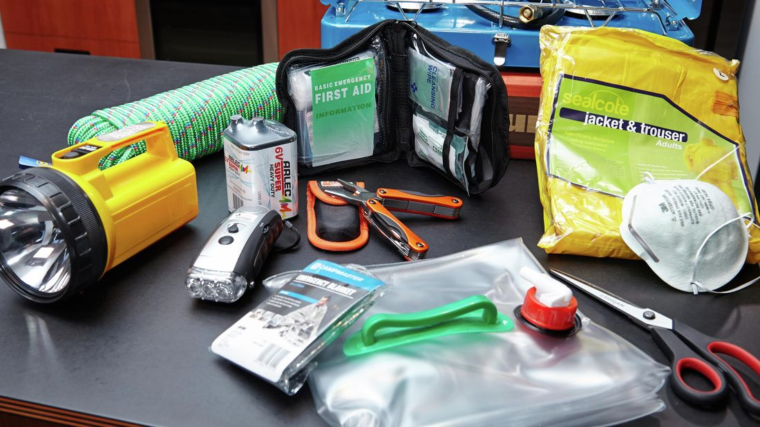 Tools and equipment needed to help you prepare your home for an earthquake.