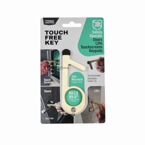 Taskmaster Gold Touch Free Key With Rubber Tip
