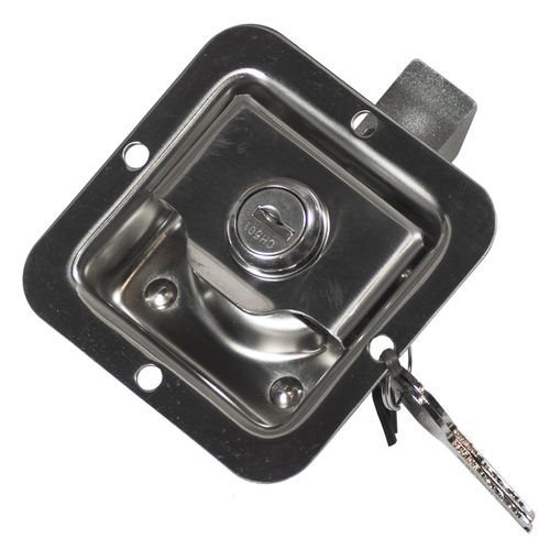 Goliath 82 x 82mm Small Stainless Steel Paddle Locking Latch
