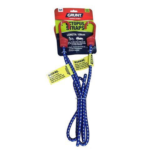 GRUNT 1m Tie Down Octopus Straps - 2 Pack