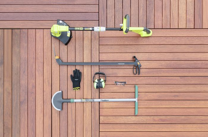 Tools needed to trim your lawn edges.