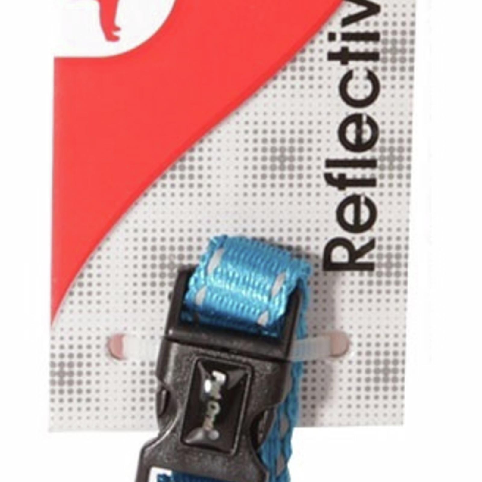Reflective Adjustable Nylon Dog Collar - 17-26cm (10mm) - Aqua (Pet One)