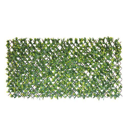 UN-REAL 1.8 x 0.9m Green Photinia Artificial Expanding Hedge Trellis
