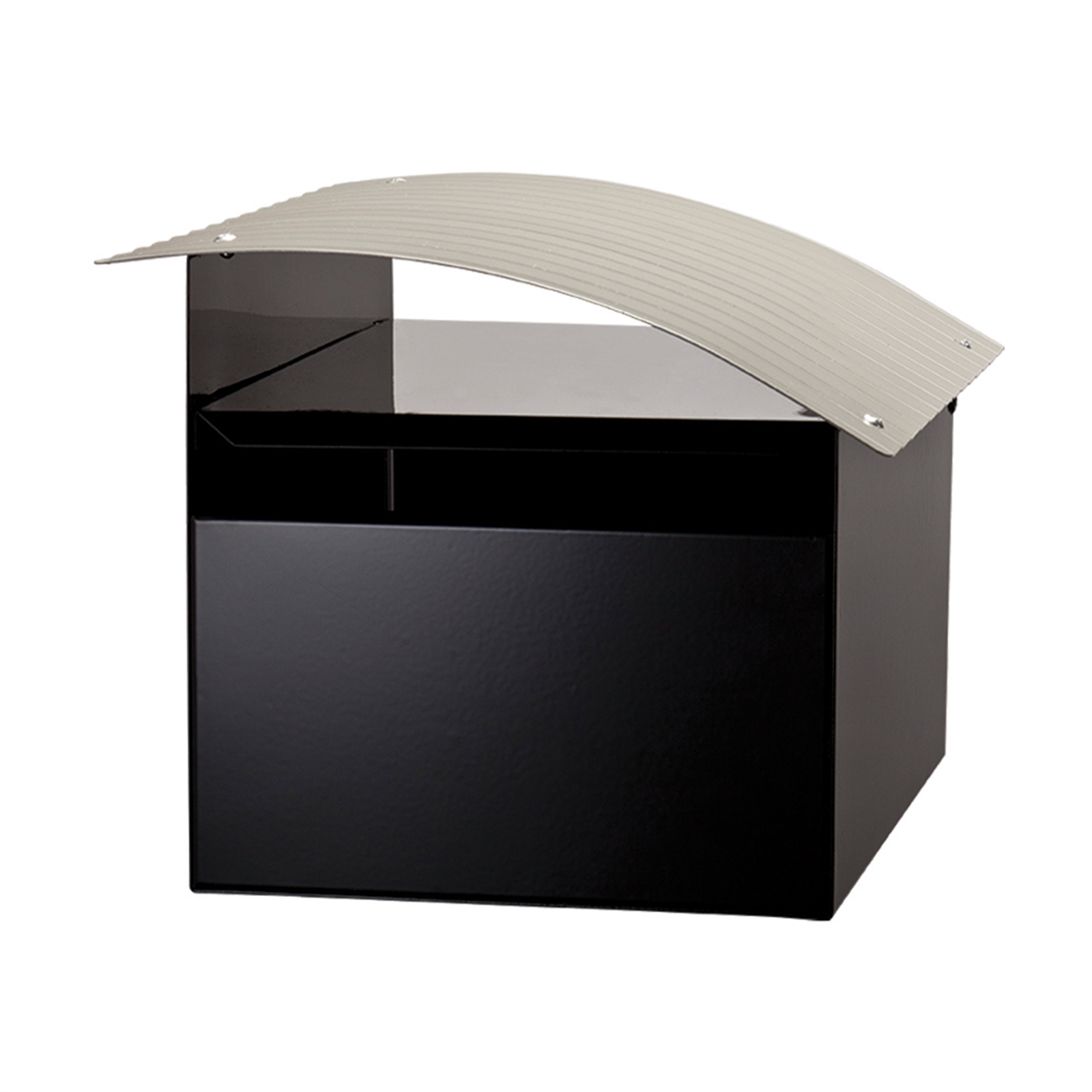 Sandleford 210 x 180 x 290mm Black And Silver Ripple Galvanised Letterbox