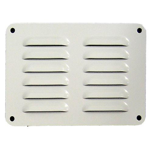 Haron 150 x 100mm White Aluminium Pressed Wall Vent