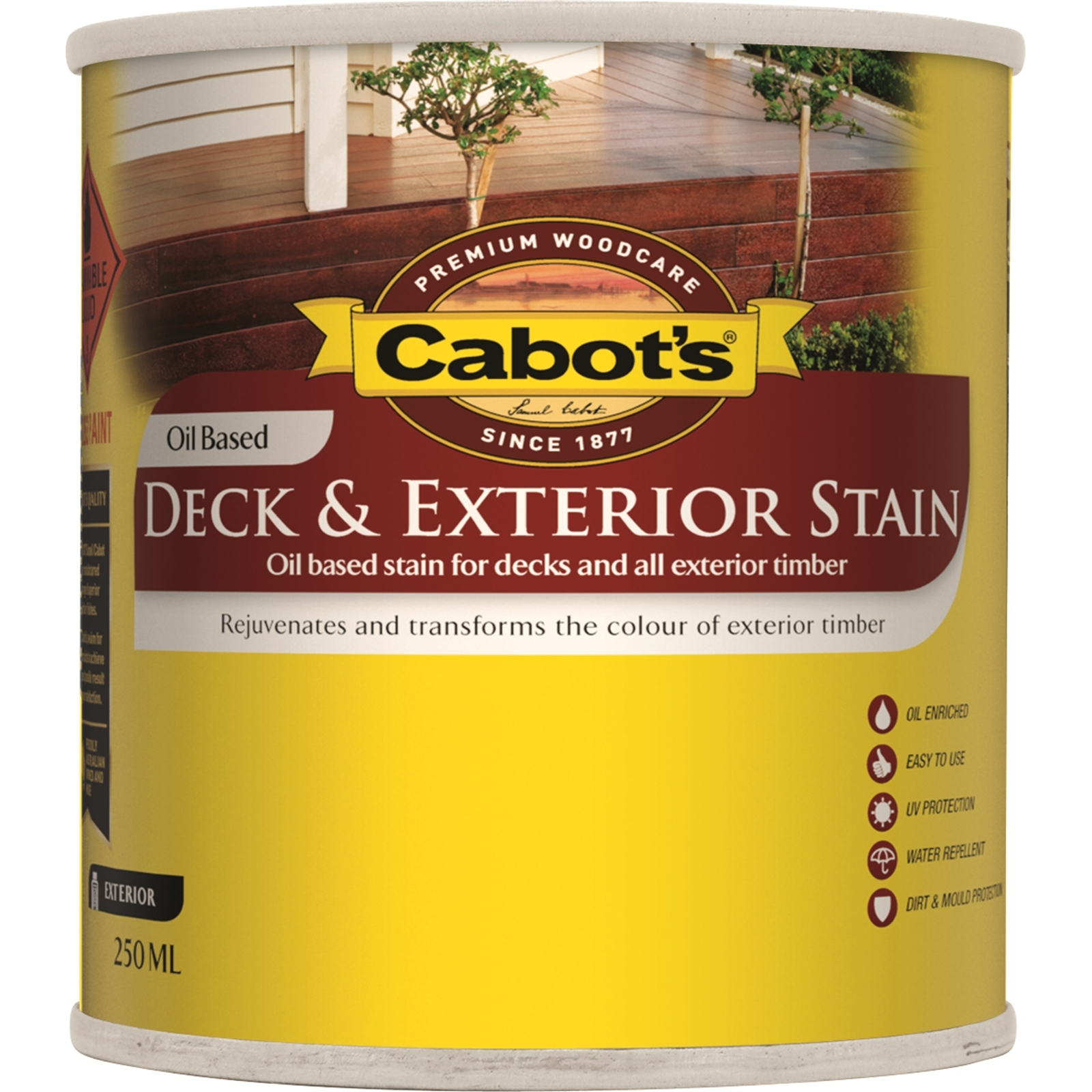 Cabot's 250ml Oil Based Merbau Deck And Exterior Timber Stain