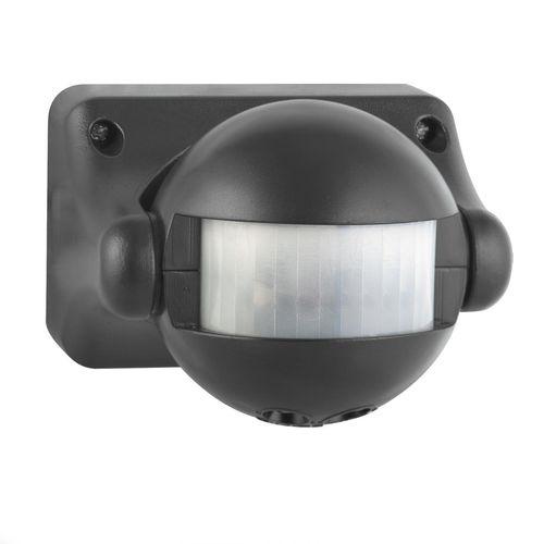 Arlec Black Alcyone Compact Movement Activated Security Sensor