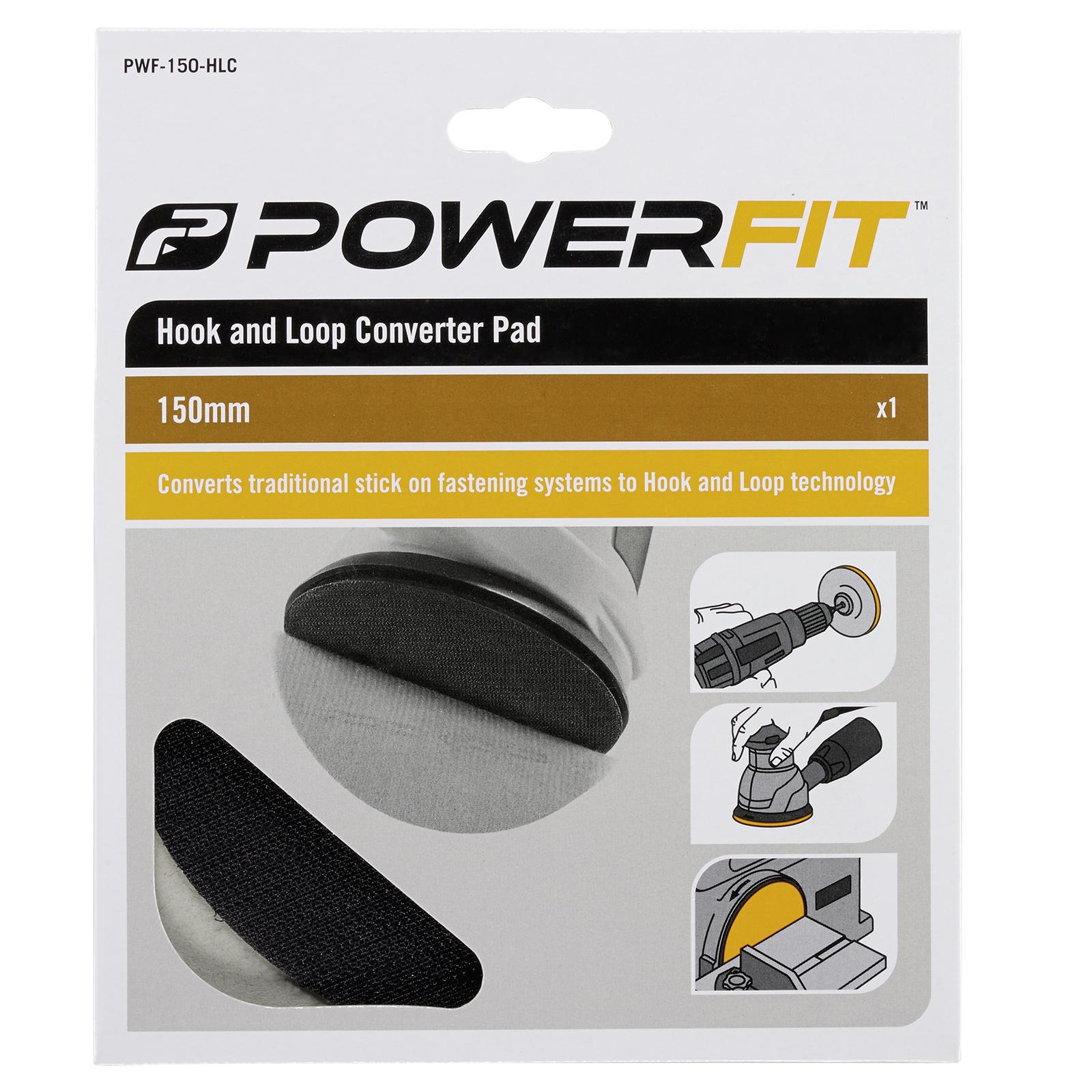 Powerfit 150mm Backing Pad Hook and Loop Converter