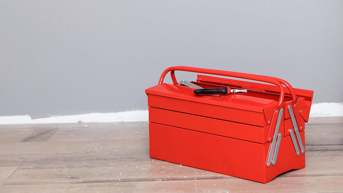 Red toolbox.